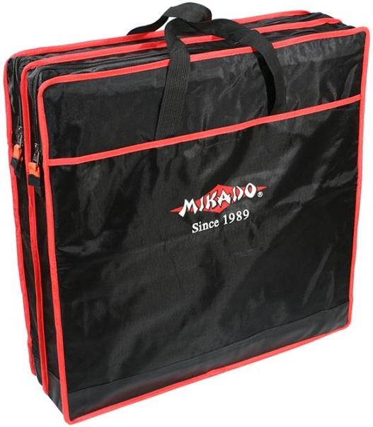 Чехол Mikado для двух прямоугольных садков на 63см черно-красный