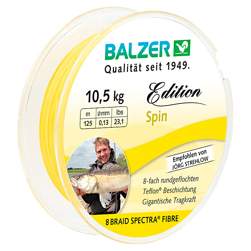 Шнур Balzer Edition Spin 125m 0.08mm/6.80kg желтый