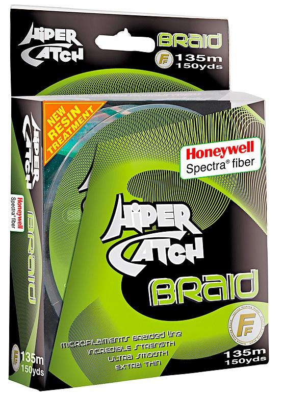 Шнур Lineaeffe Hiper Catch Spectra Braid 135m 0.15mm/14.00kg светло-серый