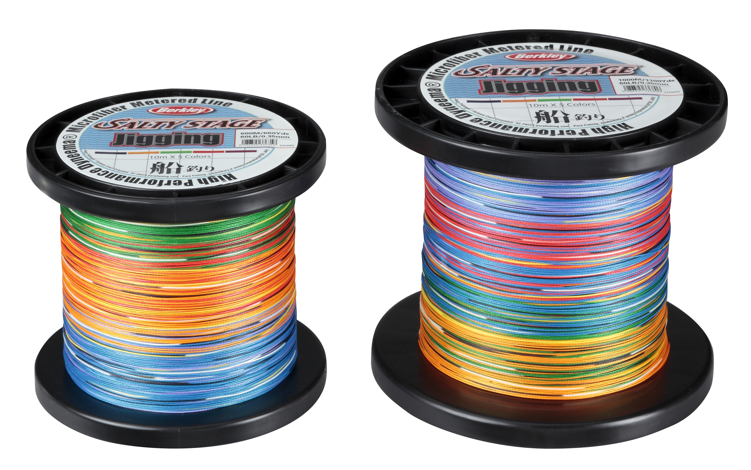 Шнур Berkley Salty Stage Jigging  600m 0.25mm 30Lbs 5 colour