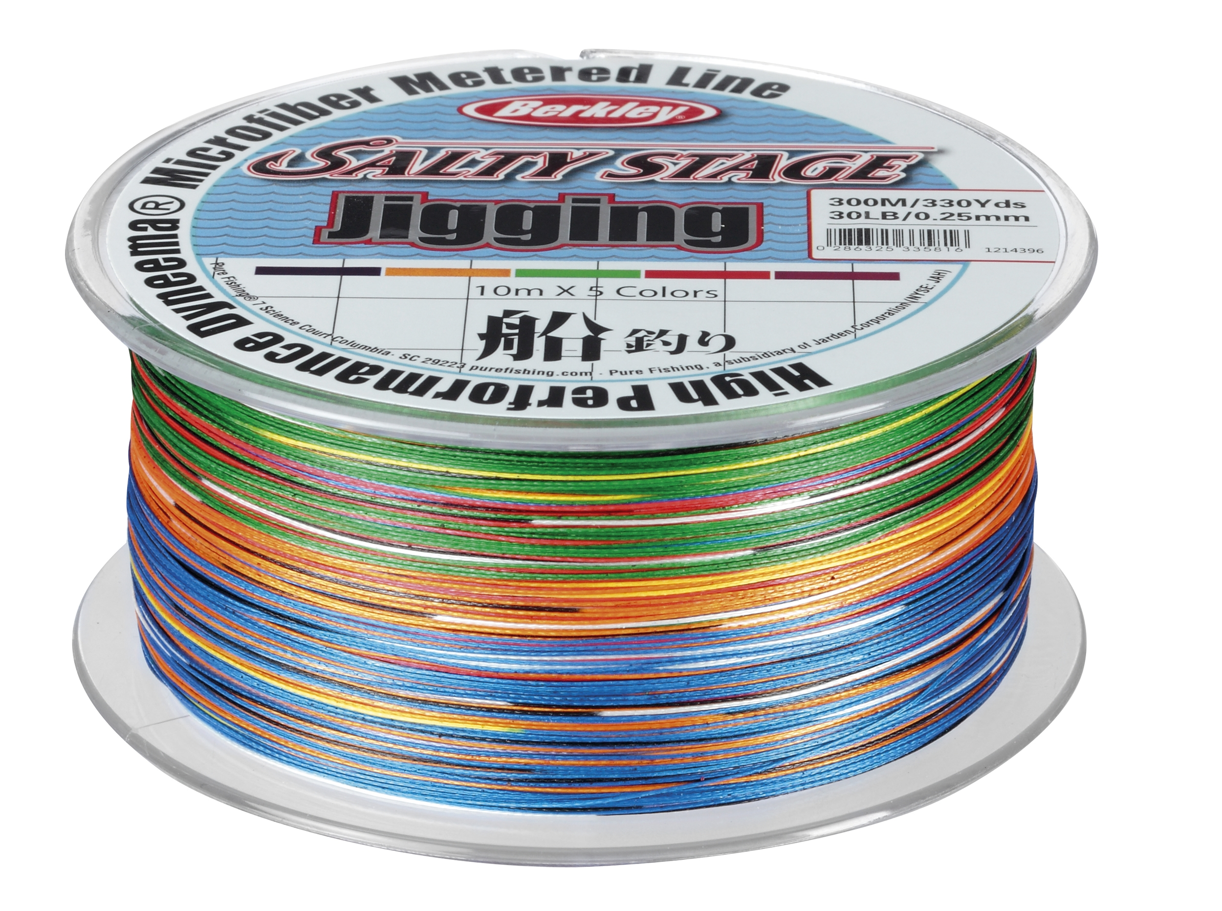 Шнур Berkley Salty Stage Jigging  300m 0.30mm 50Lbs 5 colour