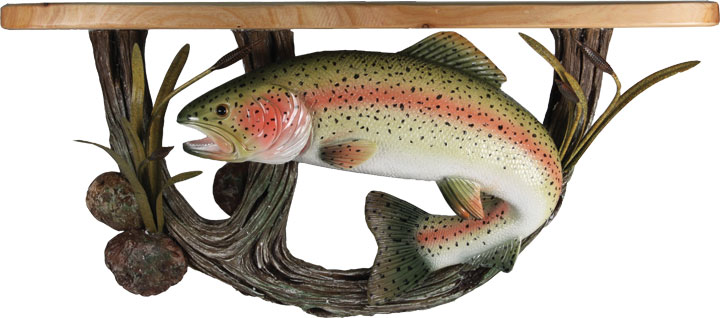Полка Riversedge Trout Wood Shelf
