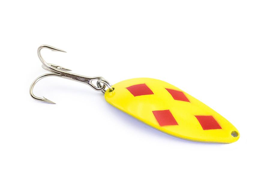 Блесна Acme Little Cleo 7г Yellow Red Dot