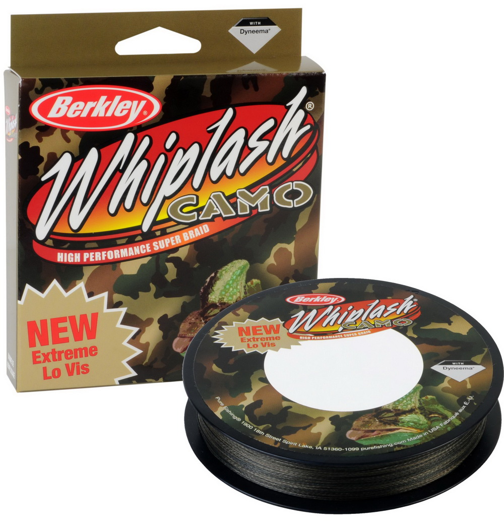 Шнур Berkley Whiplash Camo 110m 0,08mm 12.3kg
