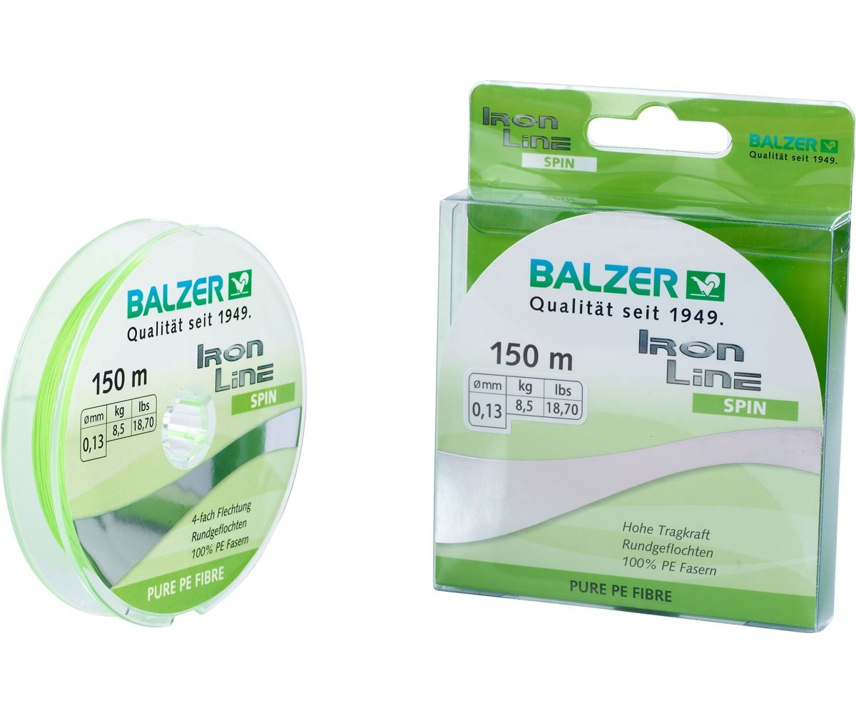 Шнур Balzer Iron Line 4x 150m 0.16mm/10.20kg салатовый