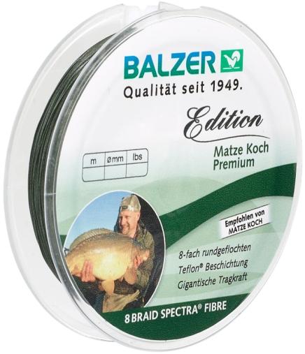 Шнур Balzer Edition Matze Koch Premium 125m 0.10mm/8.20kg зеленый