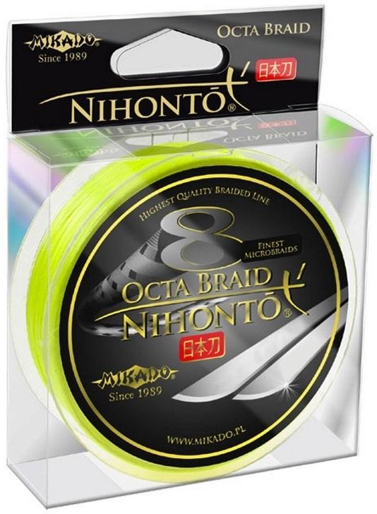 Шнур Mikado Nihonto 8 Octa Braid 150м 0.20мм 18.10кг желтый