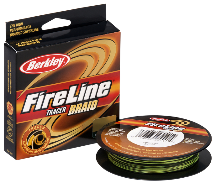 Шнур Berkley FireLine Braid Tracer Yellow/Black  110m 0,23mm 25,7kg