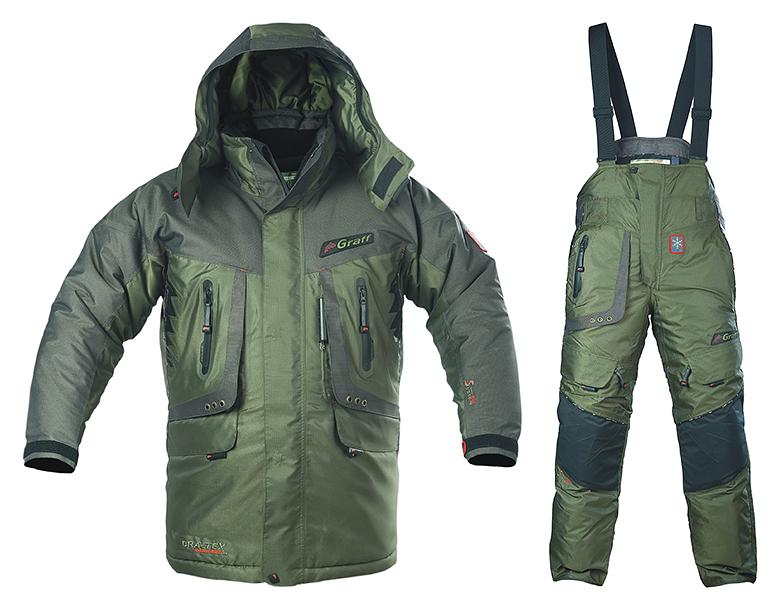 Рыболовный утепленный костюм Graff 613/713-O-B -50°