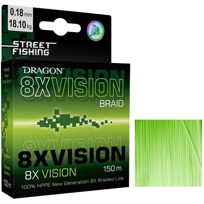Шнур Dragon Street Fishing 8X Vision 150m 0.08mm/6.30kg зеленый