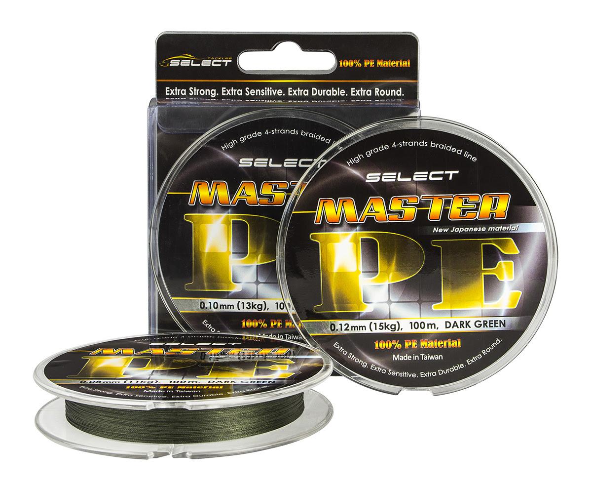Шнур Select Master PE 100m 0.16мм 19кг темно-зеленый